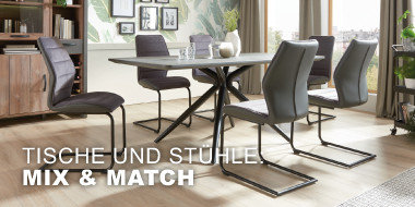 Tische und Stühle: Mix & Match