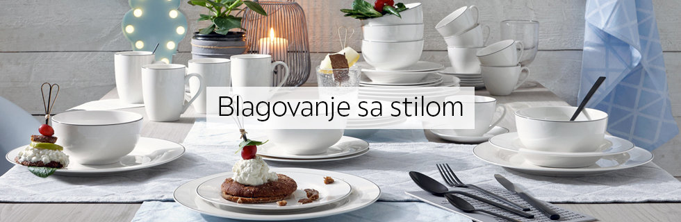 Moderan i elegantan kombinirani servis za jelo Lesnina XXXL