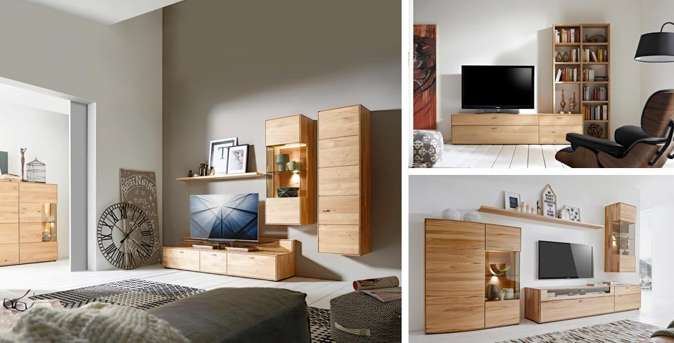 obývací program Venturo od Valnatura, pravé dřevo, světlé, hladké od XXXLutz