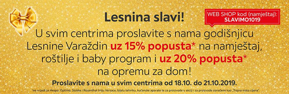 U svim centrima proslavite s nama godišnjicu Lesnine Varaždin uz popuste