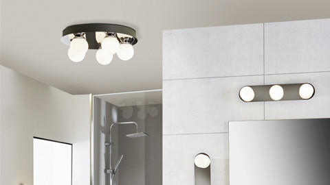 LED-Deckenleuchten im Badezimmer