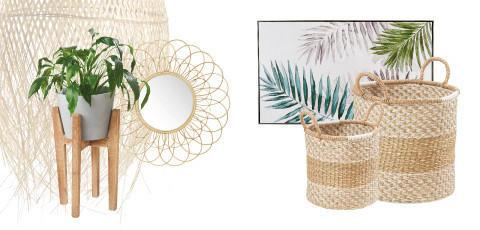 Blumenübertöpfe und weitere Deko im Botanic Summer Stil