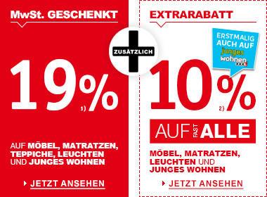 19% MwSt. geschenkt + 10% Extrarabatt