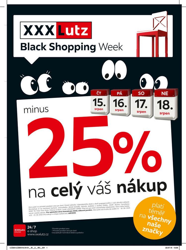 Black Shopping sleva 25 % na celý váš nákup!