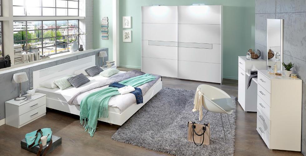 Bijela spavaća soba u Lesnini