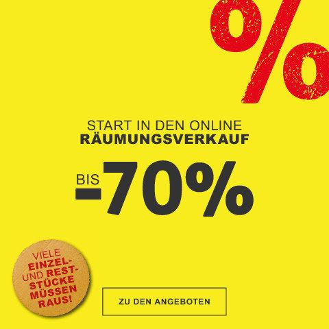 Start in den  Online Räumungsverkauf