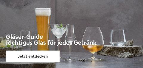 Gläser-Guide Richtiges Glas für jedes Getränk