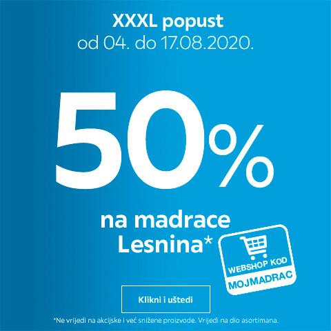 50% popusta na madrace Lesnina