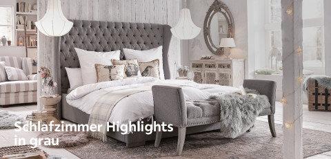 Schlafzimmer grau
