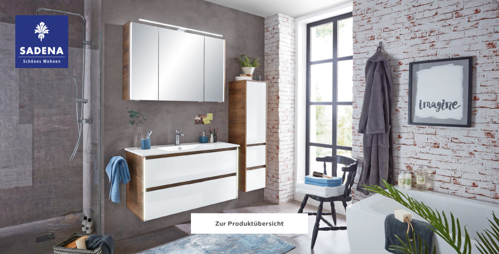 Sadena Badezimmer Bad Holz weiß