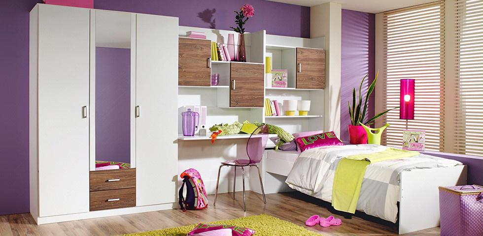 Kinderzimmer in frischen Farben für Mädchen