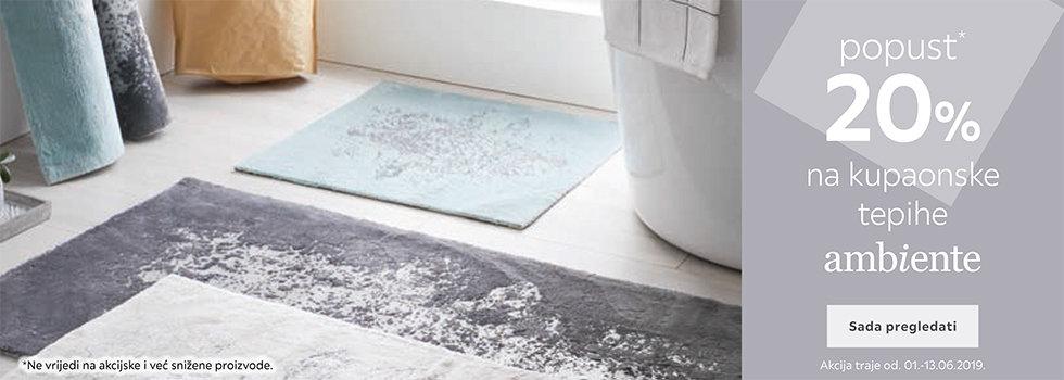 20% popusta na Ambiente kupaonske tepihe