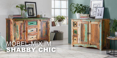 Möbel-Mix im Shabby Chic