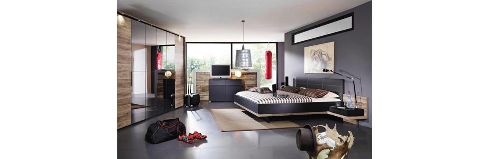 Minimalistična spalnica v moškem slogu