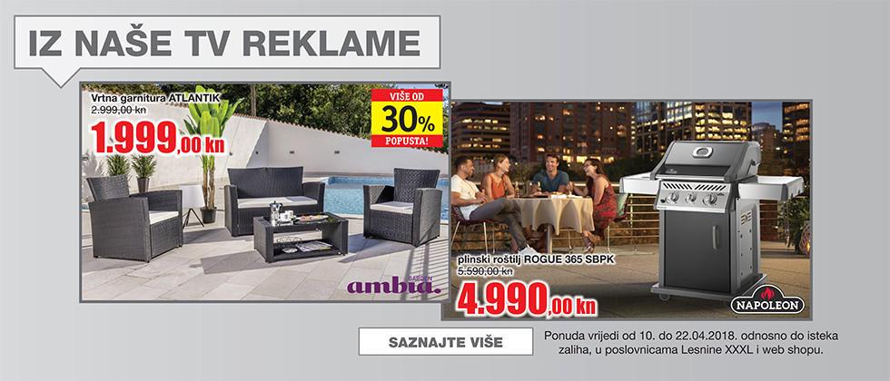 Siva vrtna garnitura i sivi plinski roštilj iz naše tv reklame