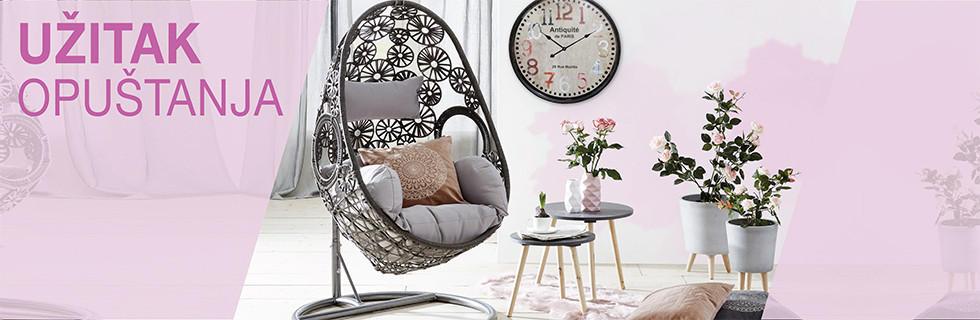 Romantičan stil uređenja poziva na opuštanje u visećoj fotelji Lesnina XXXL