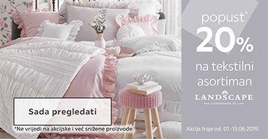 20% popusta na Lanscape tekstilni asortiman