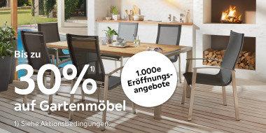 Bis zu 30% auf Gartenmöbel