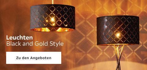 Leuchten im Black und Gold Style