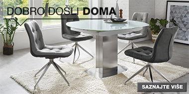 Moderan i elegantan blagovaonski stol i stolice XXXL Lesnina