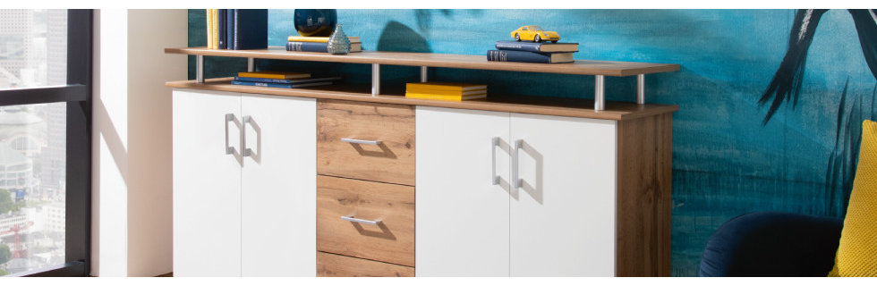 Garderobe Holz weiß