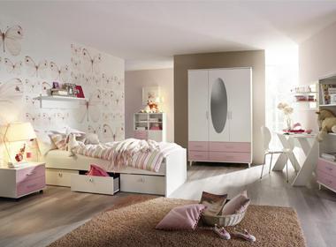 Mladinska soba v pastelnih barvah