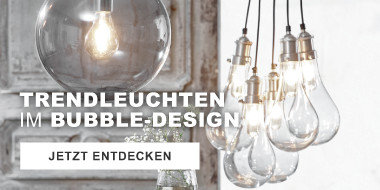 Trendleuchten im Bubble-Design