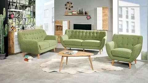 Trosjed, dvosjed i fotelja nježno zelene boje