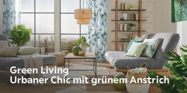 Green Living  Urbaner Chic mit grünem Anstrich