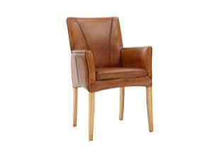 Židle s područkami kůže v XXXLutz.