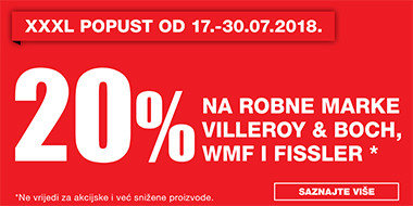20% popusta na Wmf, Fissler i V&B u Lesnini