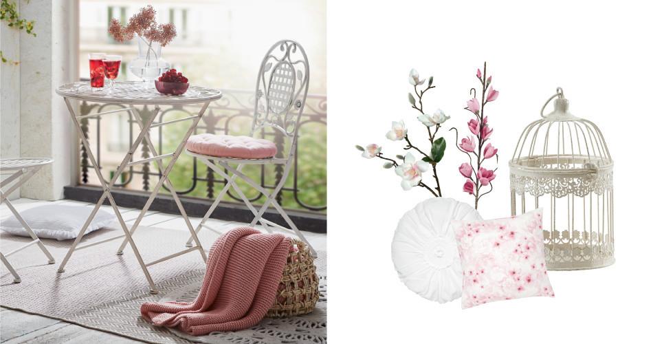 Verspiele Inspiratin - romantisch angehauchte Möbel für Ihren Balkon