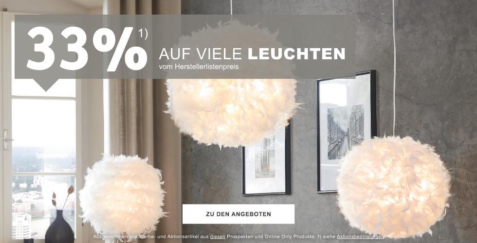 33% auf viele Leuchten vom Herstellerlistenpreis