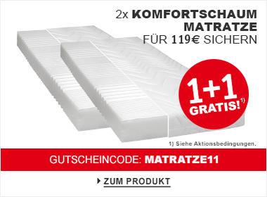 1+1 Gratis Komfortschaum Matratze