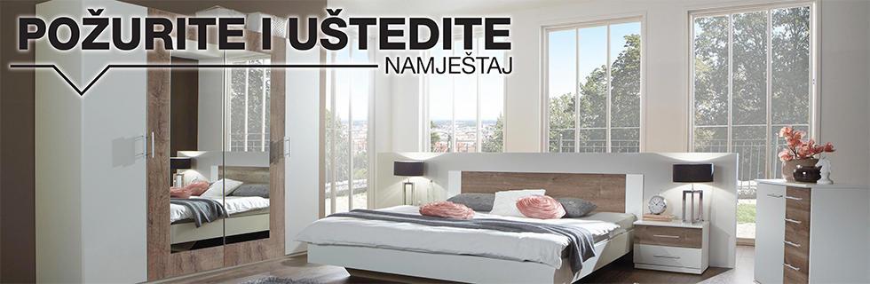 Moderna spavaća soba XXXL Lesnina