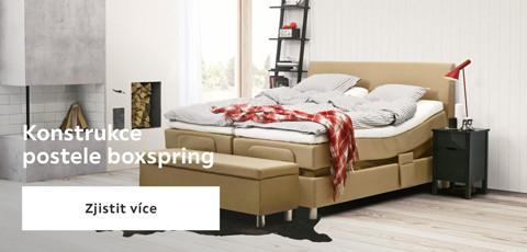 Konstrukce postele Boxspring