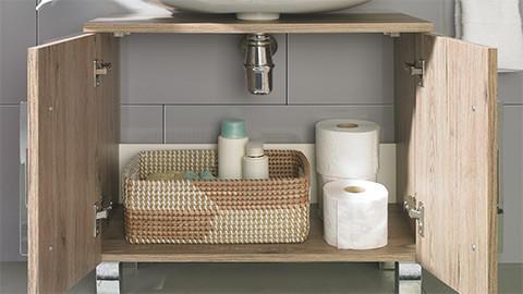 Waschbeckenunterschrank in Holzoptik