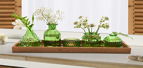 Pladanj za svijeće od zelene keramike