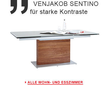 Venjakob Sentino Wohn- und Esszimmer Produkte starke Kontraste