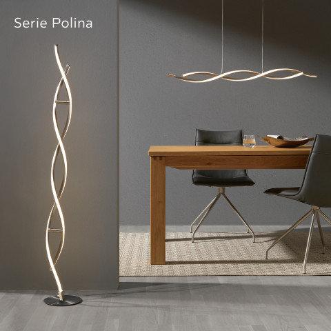 Leuchten Serie Polina Spirale Schwarz