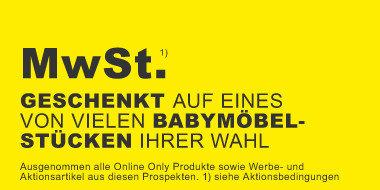 Mwst. geschenkt auf ein Babymöbel Ihrer Wahl