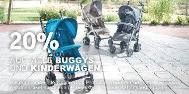 20% auf viele Buggys und Kinderwägen