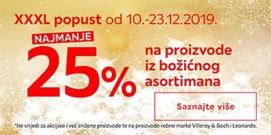 25% popust na božićni asortiman
