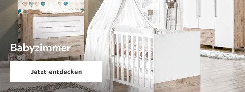 Babyzimmer Gitterbett Weiß Braun Holz