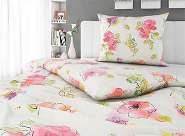 Vesela cvjetna posteljina Lesnina XXXL