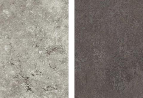 Musterring Arbeitsplattenfarben Speckstein grau Ferro Titan