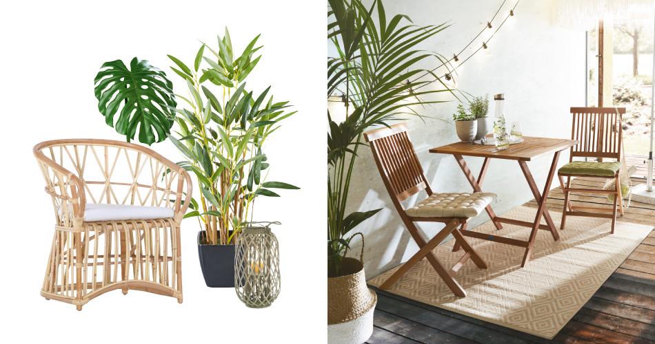 Balkonmöbel aus Holz für Naturliebhaber