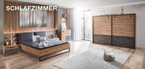 Time Schlafzimmer Schwarz Braun Holz