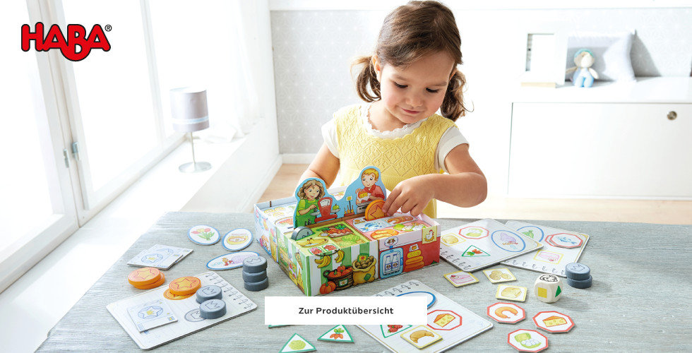 Haba Spielwaren entdecken Brettspiel Mädchen Gelb