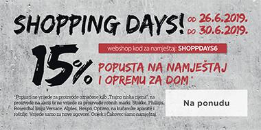 Shopping days - 15% na namještaj i opremu za dom